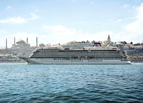 Set to Debut in Spring 2015, Viking Star Meets Water for First Time