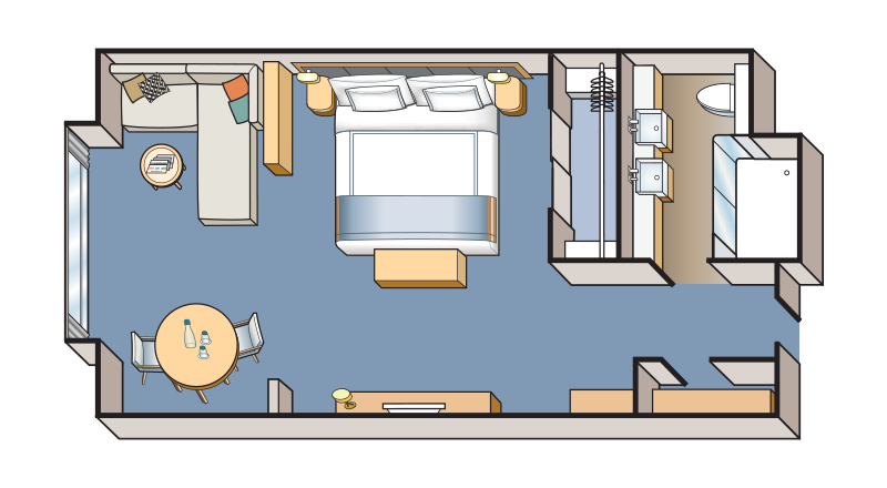 Nordic Junior Suite stateroom floor plan