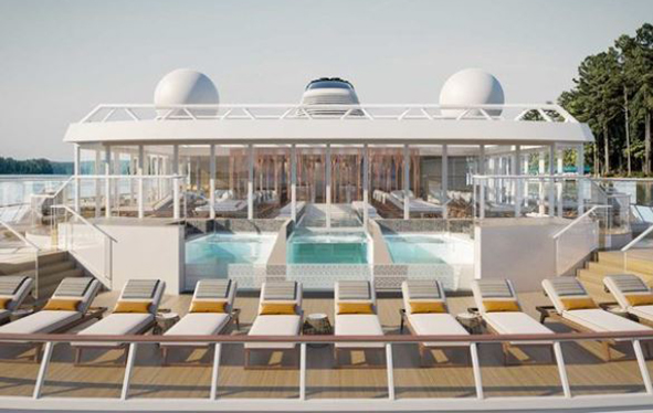The pool on board a Viking Expeditions vessel