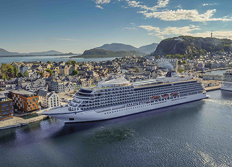 Viking Cruises Founder and Chairman Torstein Hagen Commemorates Five Norwegian Ports of Call For New Ship