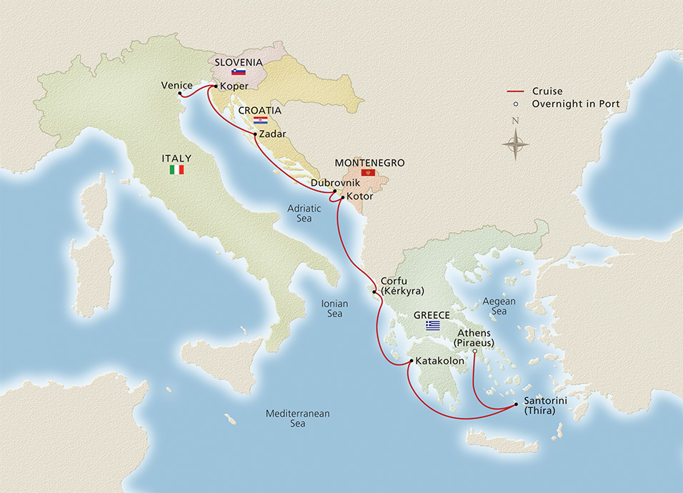 Venice To Athens Cruise Overview