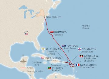 New York, Bermuda & the West Indies