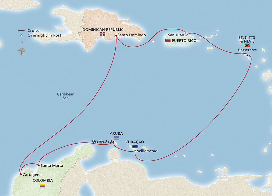 South america the caribbean san juan to san juan cruise overview south america the caribbean map map gumiabroncs Images