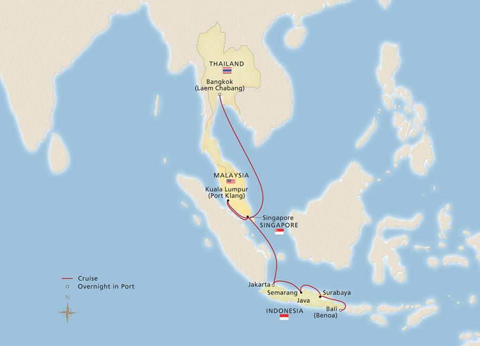 Bangkok bali beyond bangkok to bali cruise overview map gumiabroncs Images