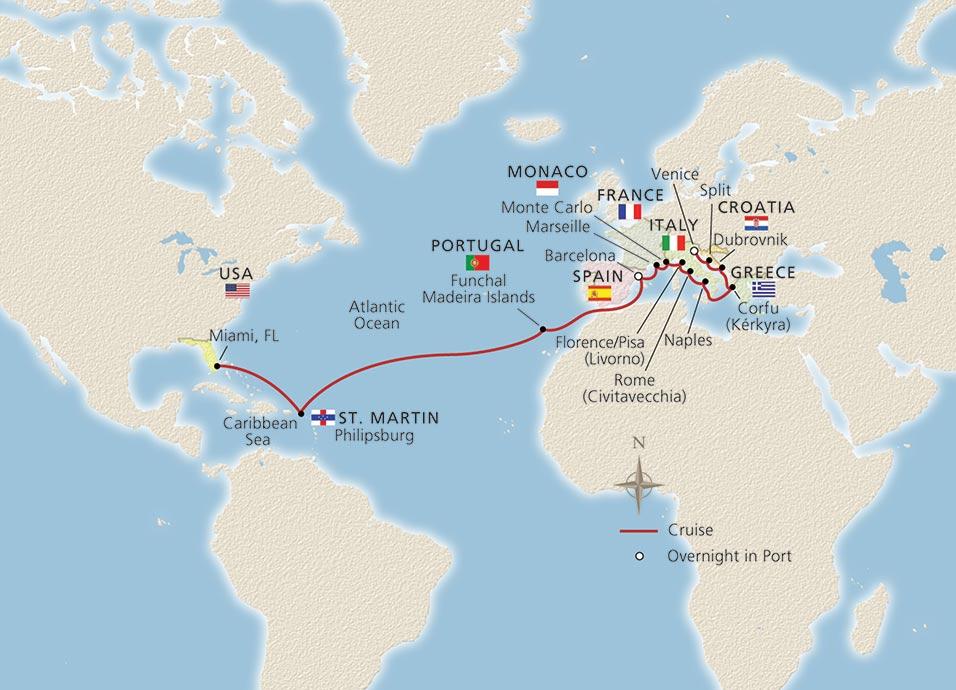 atlantic mediterranean odyssey miami to venice cruise overview