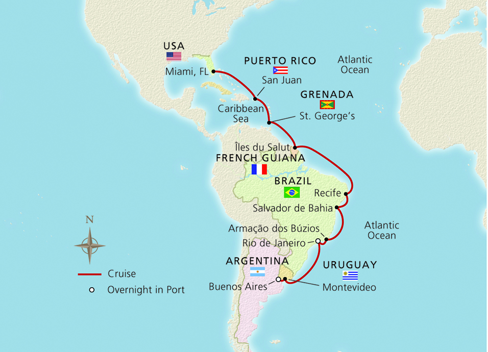 From Miami to South America Ocean Cruise Overview | Viking