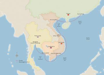 Map Of Southeast Asia Australia And New Zealand.Asia Australia Voyages