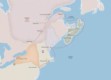 Eastern Seaboard Discoveries Map