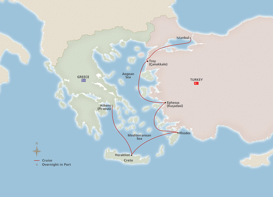 Ancient Mediterranean Treasures Map