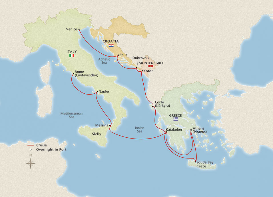 Map of Iconic & Adriatic Antiquities itinerary