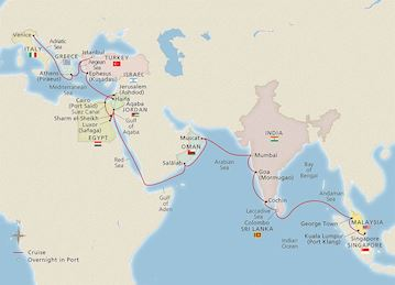 Map Of Southeast Asia Japan And Malaysia.Asia Australia Voyages