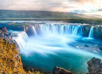 Godafoss Waterfall in Bardardalur, Iceland