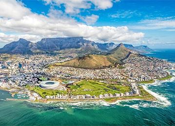 Cityscape panorama of Cape Town, South Africa