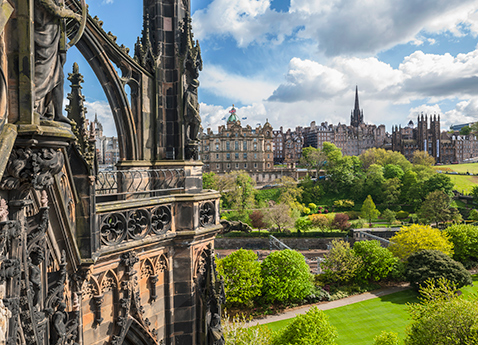 Scott Monument in Old Town Edinburgh, Scotland