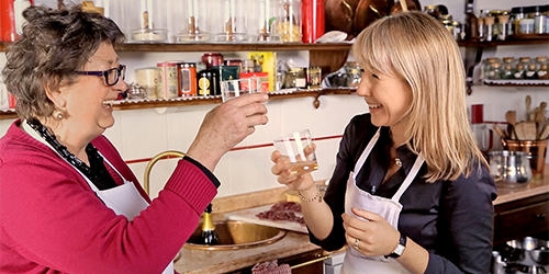 Karine Hagen cooking with Contessa Passi