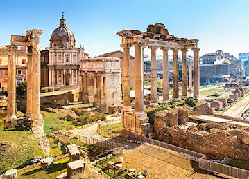 Forum ruins in Rome, Italy