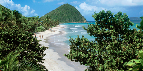 Beach panorama of Tortola