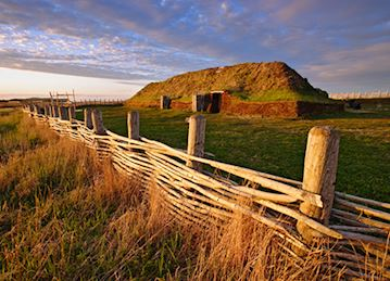 A Norse sod longhouse at L'Anse aux Meadows