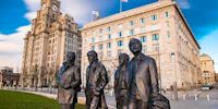 A statue of The Beatles in Liverpool