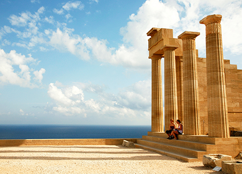 The Acropolis of Lindos, Rhodes, Greece