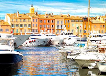 Yachts in St. Tropez Harbor