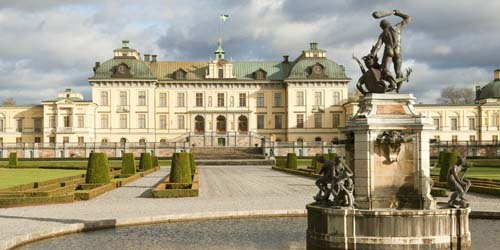 Drottningholm Palace fountains in Stockholm