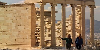 Mimikos and Mary at the Acropolis in Greece.