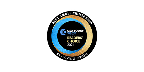 "USA Today 10BEST Readers' Choice 2021 ""Best Ocean Cruise Line"" Award logo"