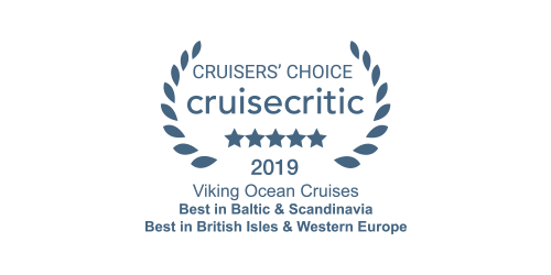 Cruise Critic Cruisers' Choice Award 2019 for Viking Ocean Cruises
