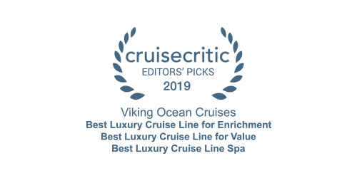 Cruise Critic Editors' Picks Award 2019 for Viking Ocean Cruises