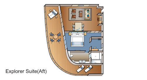 Explorer Suite aft floor plan